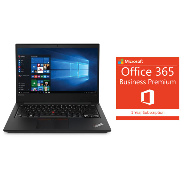 Lenovo E490 20N8005FEQ Laptop Core i5 1.60GHz 4GB 1TB Win10 Pro 14inch+MS Office 365 Business Premium 1YR Subscription
